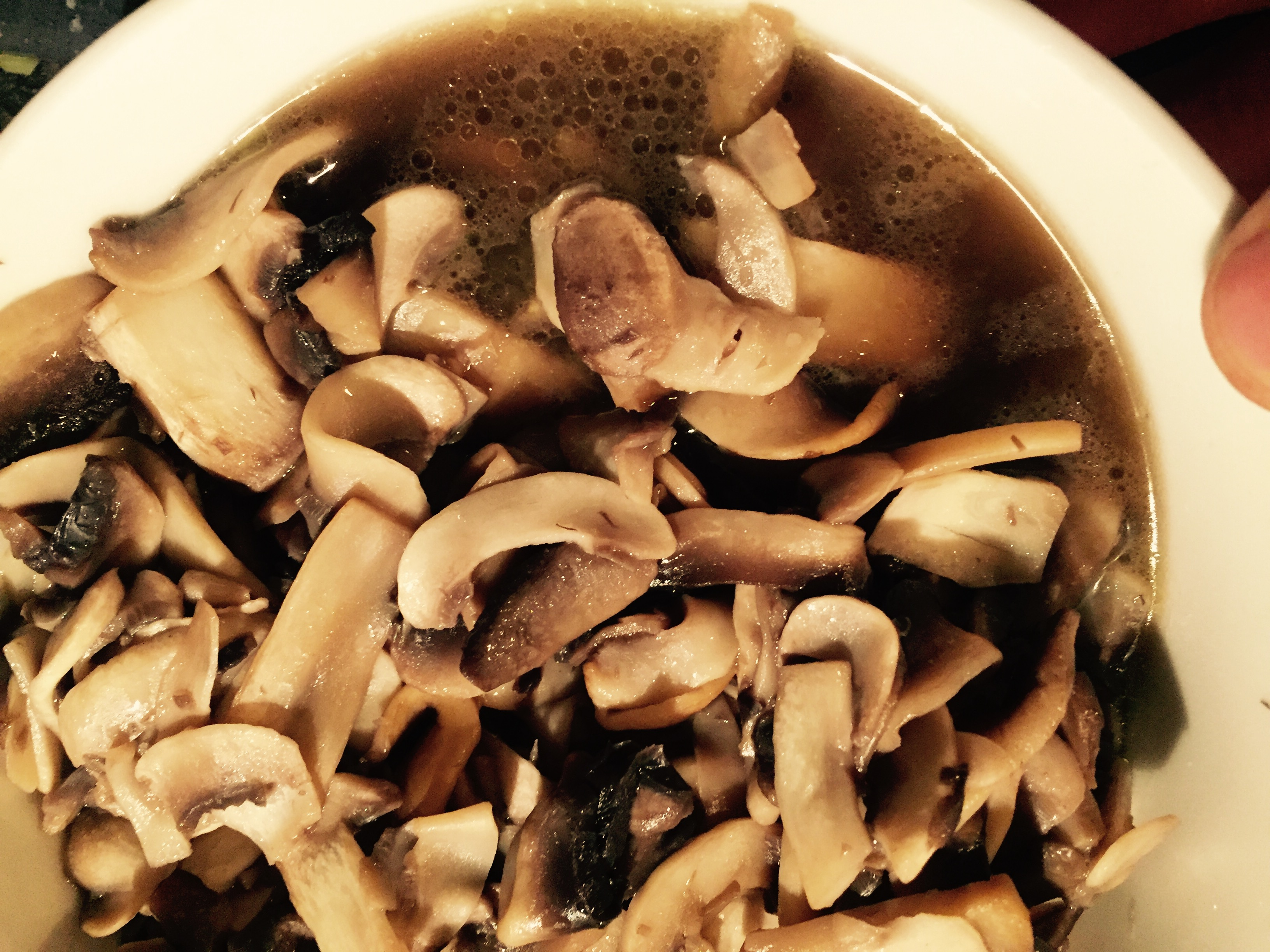 Mushrooms steeping in their own hearty juices