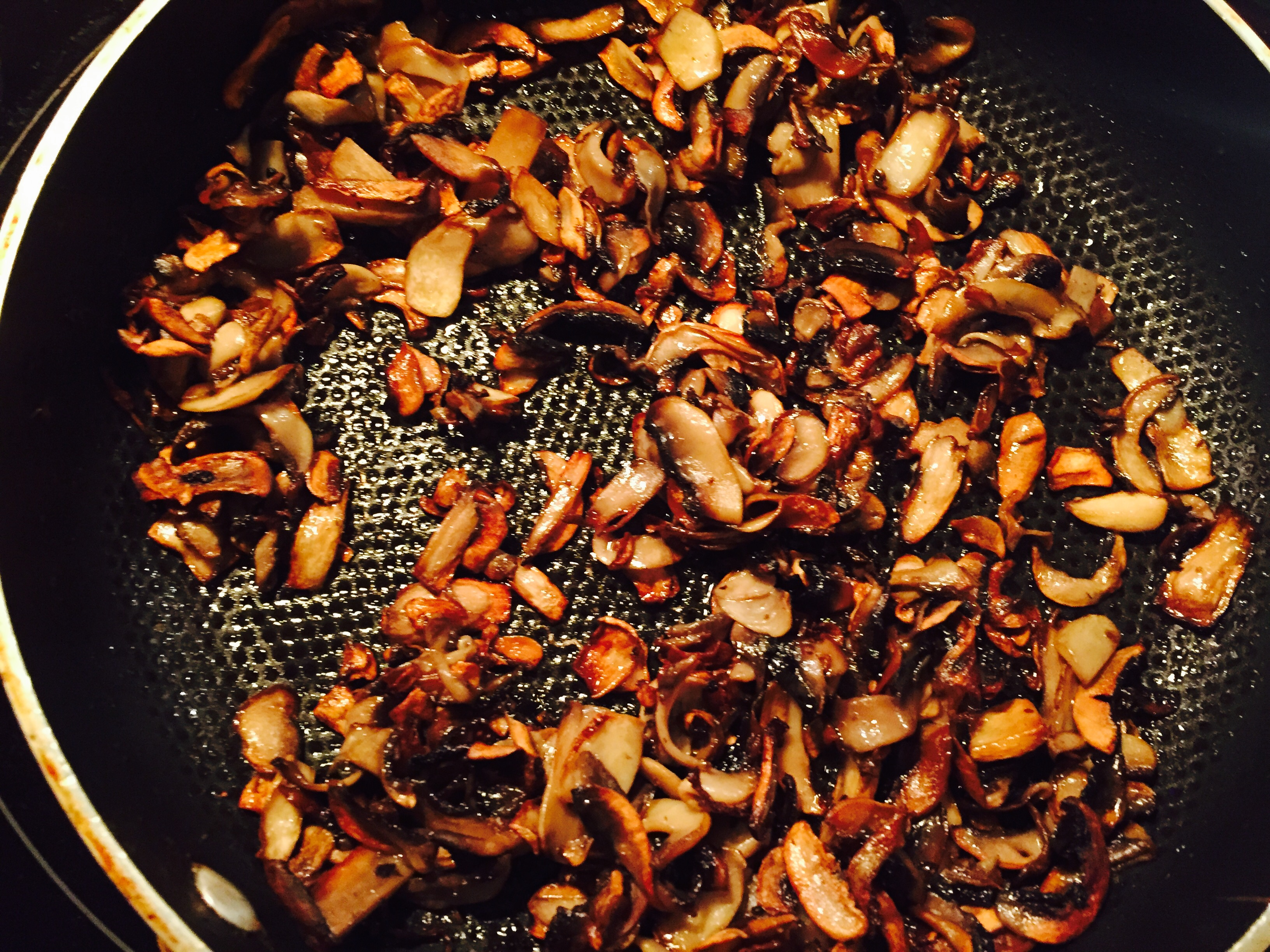 Mushrooms sautéd till golden and super flavourful