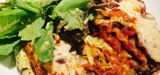 Hearty Vegetarian Lasagna with Mixed Green Salad