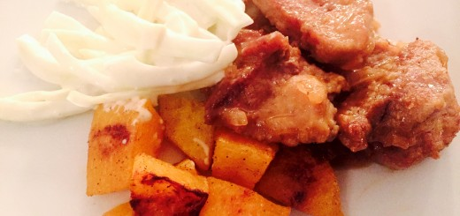 Pork Tenderloin with Roasted Squash and Fennel Salad