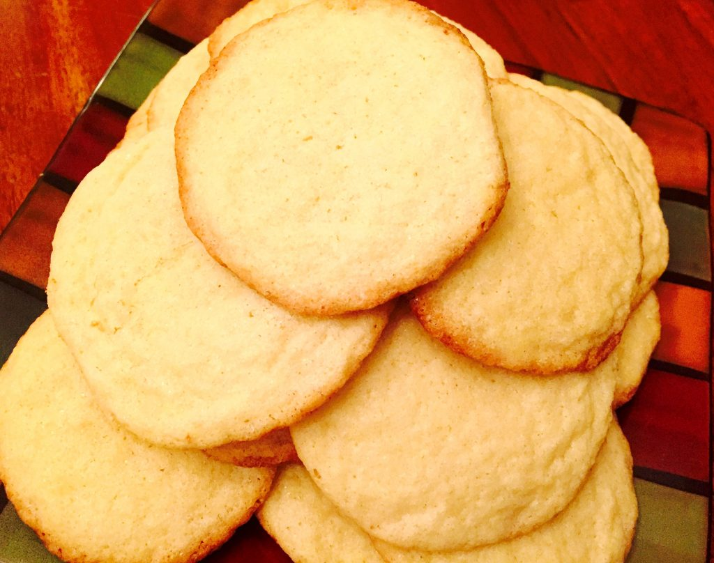 The moist, chewy and delicious results of my traditionally inspired gluten free sugar cookie recipe