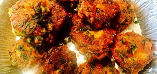 Nona May's addictive kale and callaloo fritters