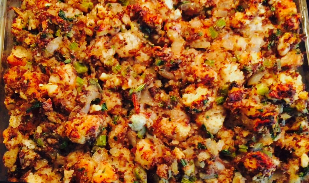 Deliciously savoury pear & walnut stuffing, this addictive dish also happens to be vegetarian and gluten free!