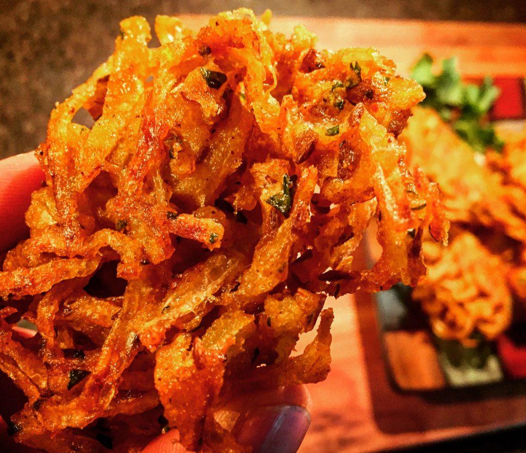 Completely addictive gluten free onion bhaji