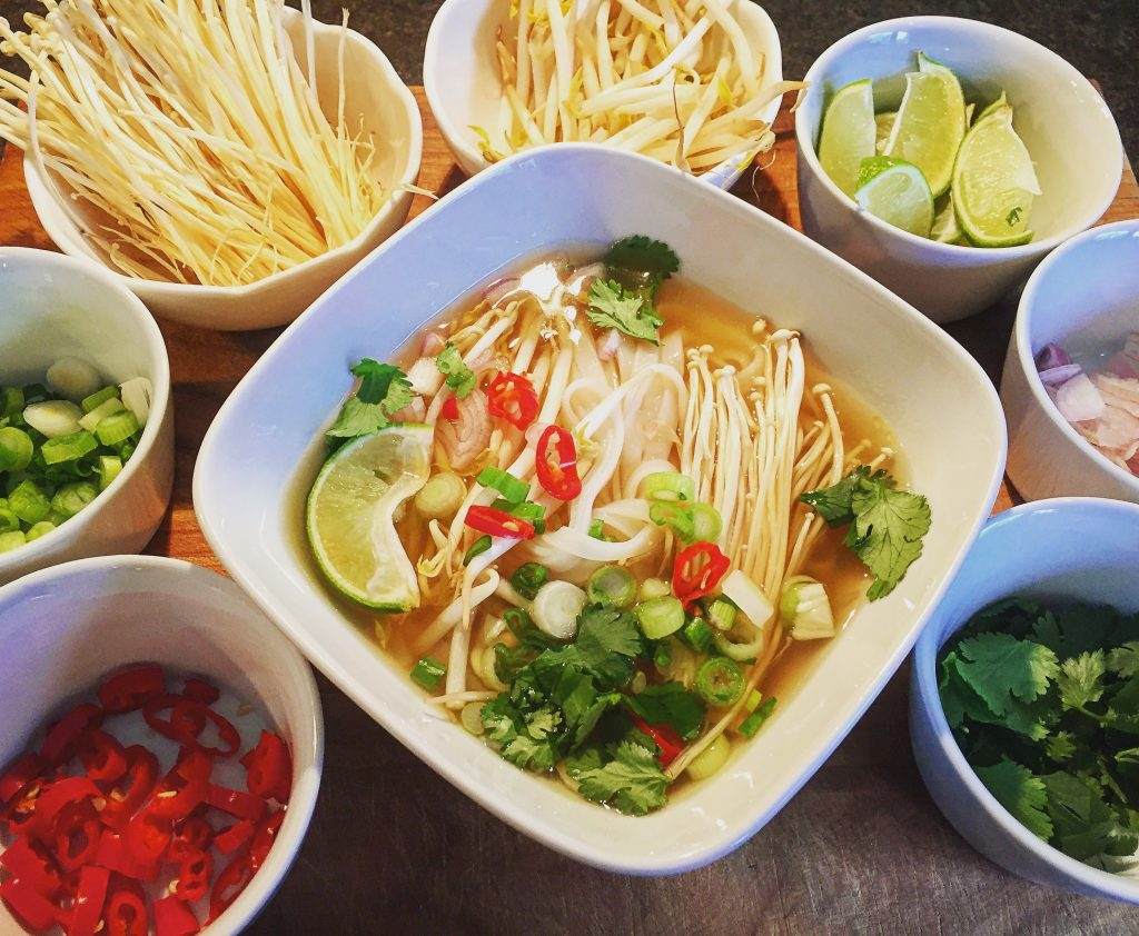 Seductively complex vegetarian pho chay with a host of fresh ingredients to choose from